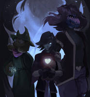 Meet the Deltarune by catUranian