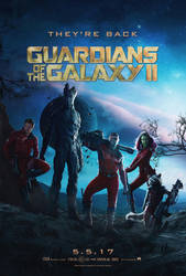 Guardians Of The Galaxy 2 Poster (FAN MADE) by TLDesignn