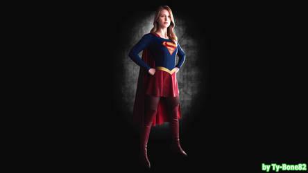Melissa Benoist as Supergirl-Wallpaper-001 by Super-TyBone82