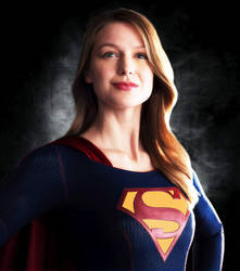 Melissa Benoist as Supergirl with Classic S Shield by Super-TyBone82