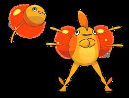 Fatty Fish Pokemon by HallowDew