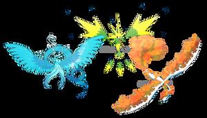 Mega Legendary Birds by HallowDew