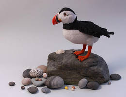 Iolo the Atlantic puffin by LisaAP