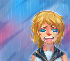 Vocaloid Rainy Day Rin by Koichi-Sama