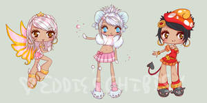 Chibis for Oclupaca by zylair