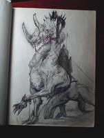 Sketch rider by SombraSister