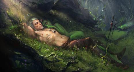 Geralt and morenn by SombraSister