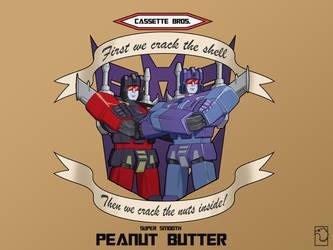 Cassette Bros Peanut Butter by birdmanstudio