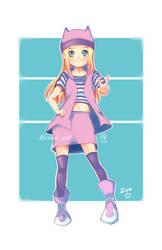 Zoe Orimoto Digimon Frontier (Fan art) by Meruiiart