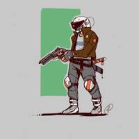 Cyberpunk character by Fernand0FC