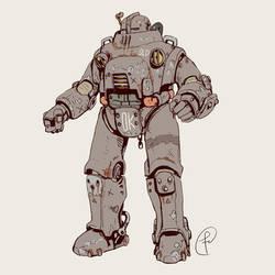 Old Retro Sci-fi Power armor by Fernand0FC