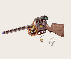 Ancient laser rifle by Fernand0FC