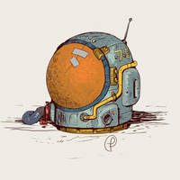 Moebius  retro space helmet by Fernand0FC