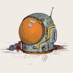 Moebius  retro space helmet by Fernand0FC