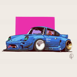Retrowave car by Fernand0FC