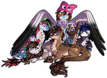 Christmas Group Commission by Blumydia