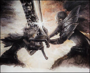 League of Legends - Yasuo VS Riven by Roxaoleen