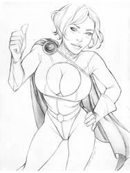 Power Girl Fanart by Little-Ginkgo