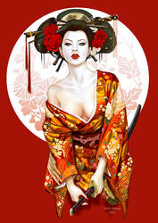 new Geisha by Little-Ginkgo