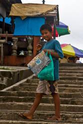 Amazonian Boy with Bird by Ironpaw