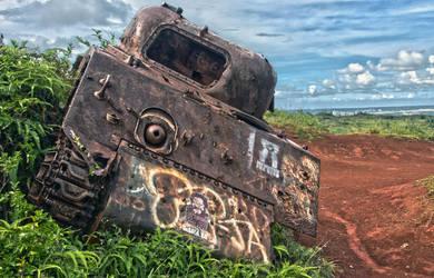 Guam Sherman Tank HDR by Ironpaw