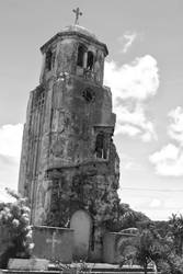 Tinian Church Ruins - Monochrome by Ironpaw