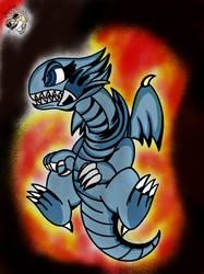 Blue Eyes toon Dragon by Scardogon