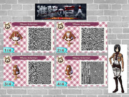 Animal Crossing QR code: Mikasa (Attack on Titan ) by JENNYtheCOOKIE