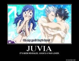 Juvia loves yaoi by Kiko-E-Coyona