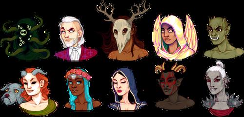 some daedric princes by Qweia