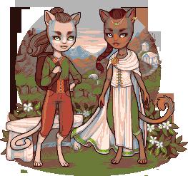 fantasy kittehs again by Qweia