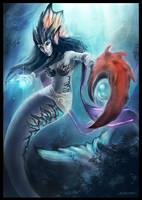 Merfolk Wizard by Levelten