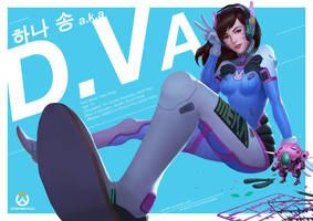 D.Va - Overwatch Fan Art by Levelten