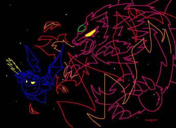 Meta Knight vs Wolfwrath by Wolfwrathknight