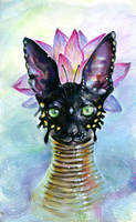 Cat Goddess by TanyaShatseva