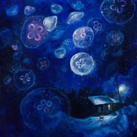 It's Jellyfishing Outside Tonight by TanyaShatseva
