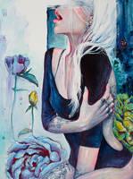 In Her Garden by TanyaShatseva