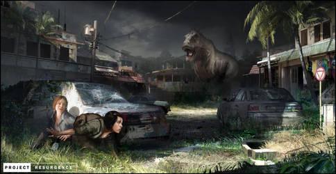 Tyrannosaurus Avenue by Happy-Mutt