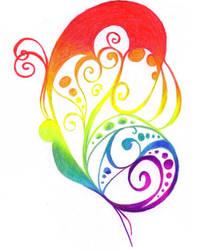 The Rainbow-butterfly by Somdoka