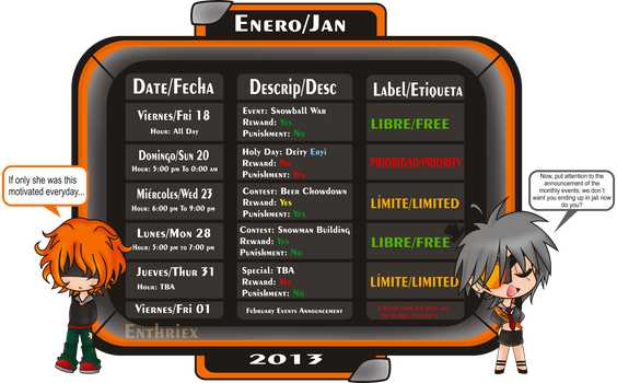 January Events by Enthriex