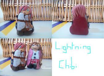FF13: Lightning Chibi by Tamanta