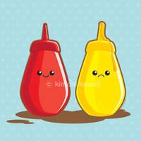 Ketchup and Mustard by kimchikawaii