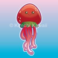 Strawberry Jellyfish by kimchikawaii