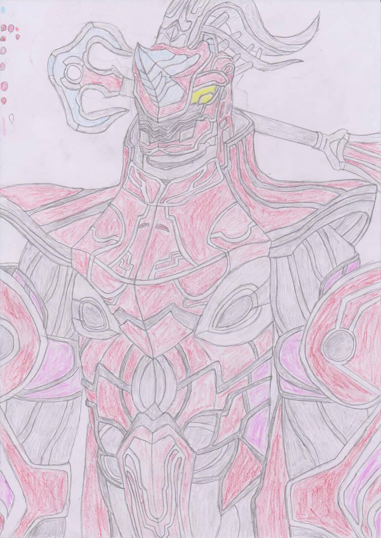 kamen rider gaim-inves overlord by robertoadder8