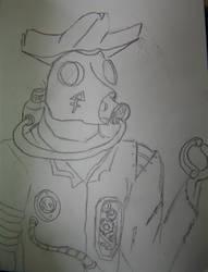 gas mask monster by robertoadder8