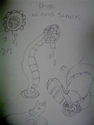 burach bhadi(wizards shackles) leech creature by robertoadder8