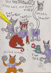the ultra cats(a.k.a the ultra cats fluffy show) by robertoadder8