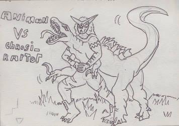 animan vs chaosiraptor by robertoadder8