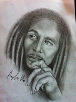 Bob marley pencil portrait by rawrnessxx