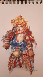 Warcraft: Female Dwarf Shaman (copics) by Anneuh